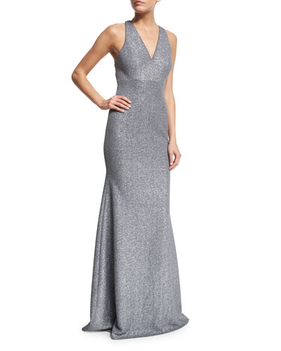 Sleeveless Open-Back Gown