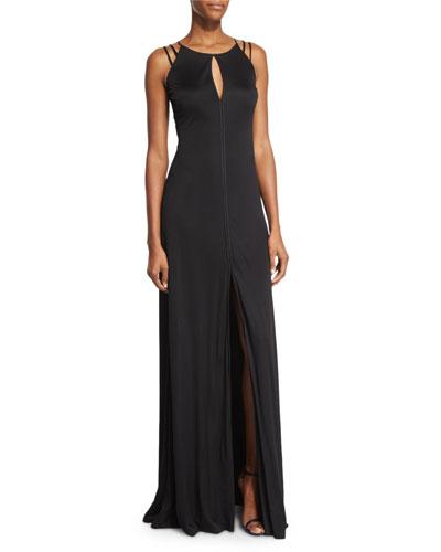 Sleeveless A-line Jersey Dress