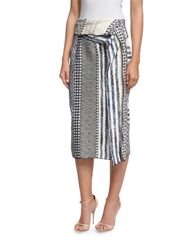 Terry Printed Sarong Skirt