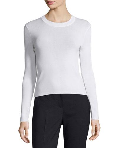 Lightweight Pullover Sweater, White