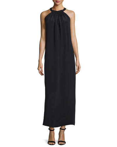 Penelope Long Halter Dress