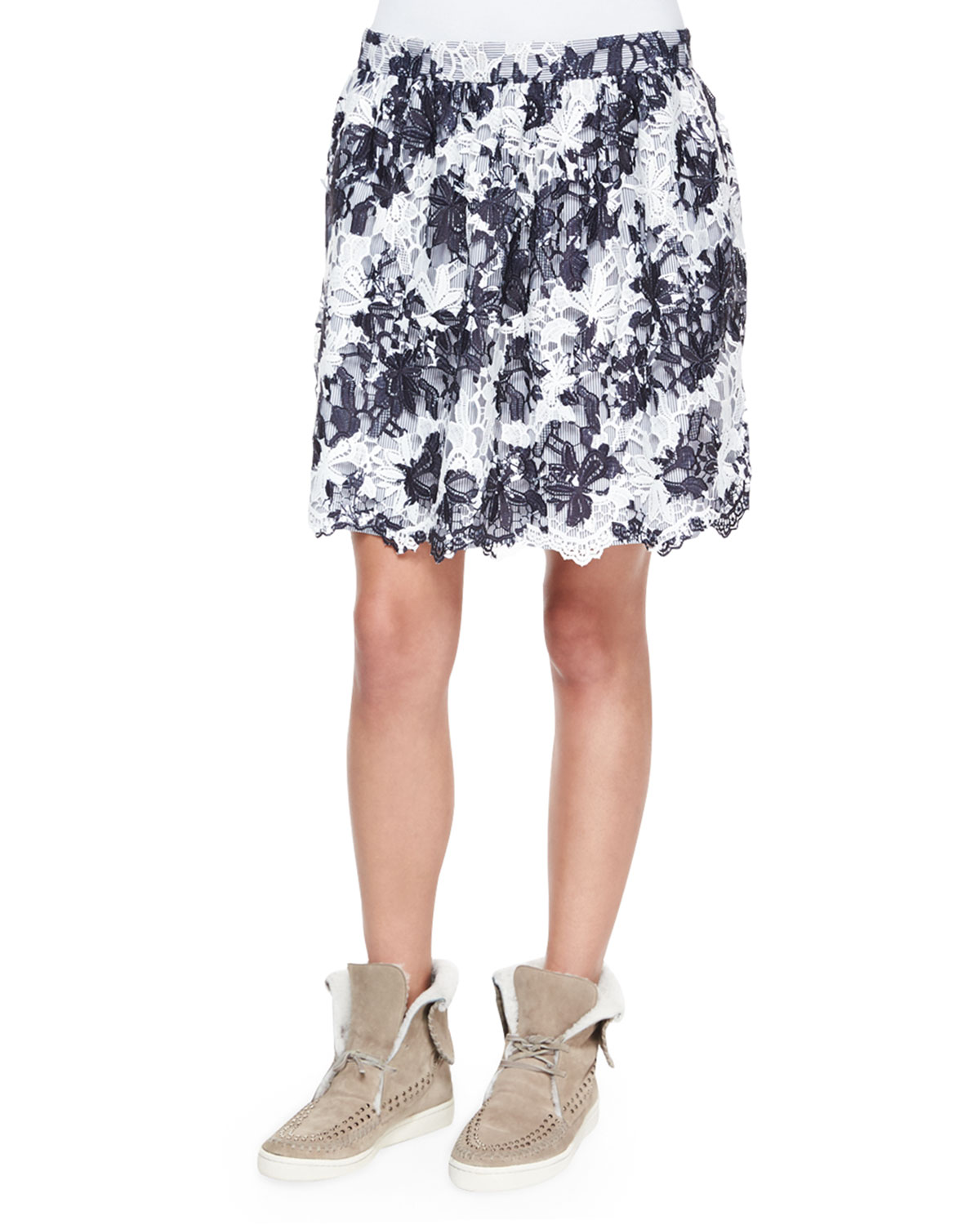 Two-Tone Lace Skirt