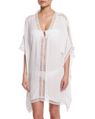 LACE TUNIC W/LACE INSET&EDGE