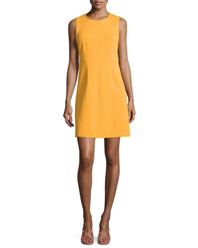 Sleeveless Carrie A-Line Dress, Saffron
