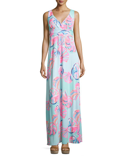 Sloane Printed Jersey Maxi Dress