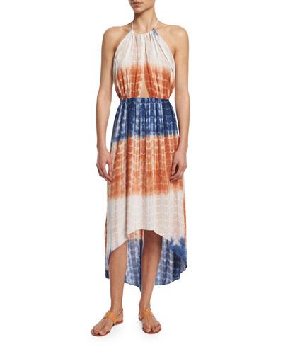Tie-Dye Halter Coverup Dress
