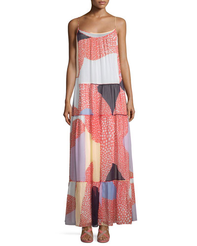 Baylee Silk Starfish Placement Maxi Dress
