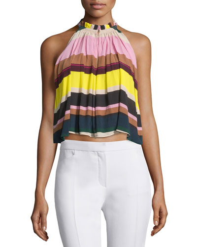 Olivera A-Line Sleeveless Top, Daylights Stripe