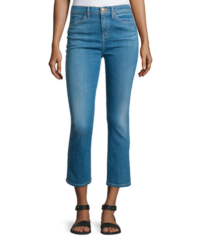 The Nerd Flare-Leg Cropped Jeans, Scout Wash