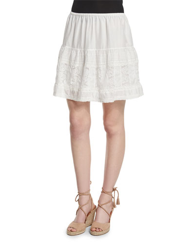 The Jubilee A-Line Mini Skirt, White