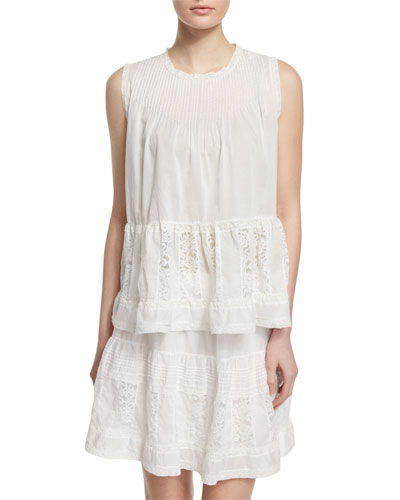 The Jubilee Embroidered Tank, White