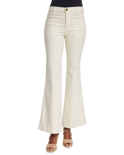 The Mariner Flare-Leg Ankle Jeans, Vintage Cream