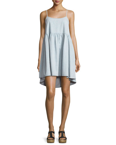 The Terrace Sleeveless A-Line Dress, Light Tint