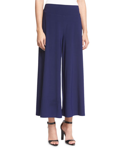 Luxe Jersey Cropped Pants, Abyss, Petite