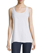 Johnny Was Plus Size Scoop-Neck Knit Tank, White