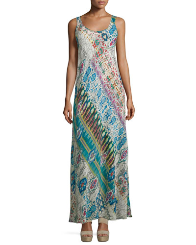 Blossom Mix-Print Maxi Dress, Multi