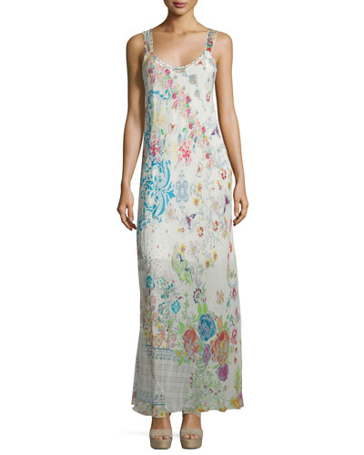Blossom Mix-Print Maxi Dress, Multi/Floral