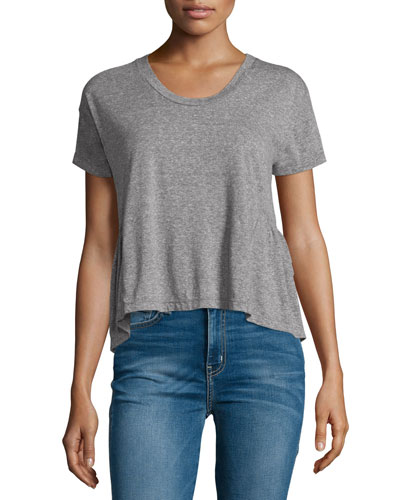 The Girlfriend Short-Sleeve Tee, Heather Gray