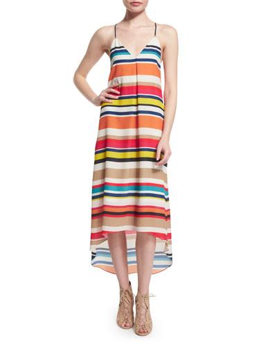 Cortes Striped Racerback Midi Dress, Multicolor