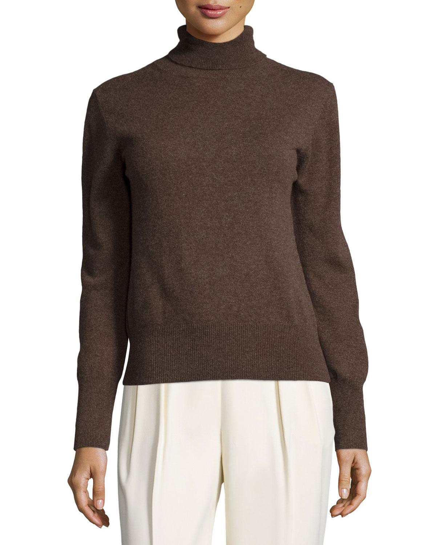 Classic Turtleneck Sweater, Mahogany