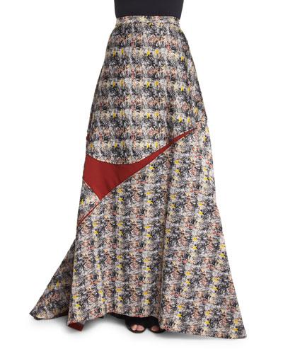 High-Waist Ball Skirt, Black/White/Gray