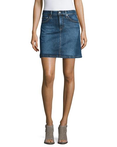 The Ali A-Line Denim Skirt, Indigo Plain Skirt