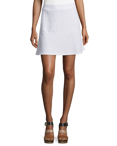 Textured Jacquard Miniskirt