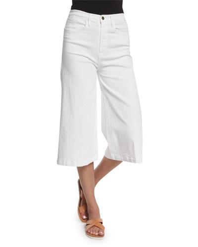 Le Gaucho High-Waist Jeans, Blanc