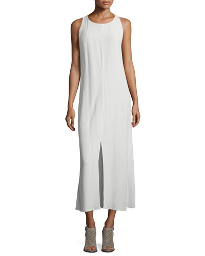Fisher Project Sleeveless Round-Neck Maxi Dress, Bone