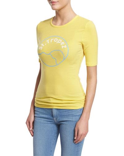 St. Tropez Short-Sleeve Tee, Canary Yellow