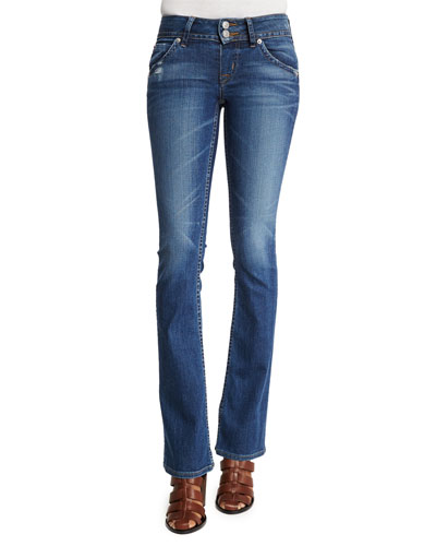 Sigboot Low-Rise Boot-Cut Jeans, Point Break, Petite