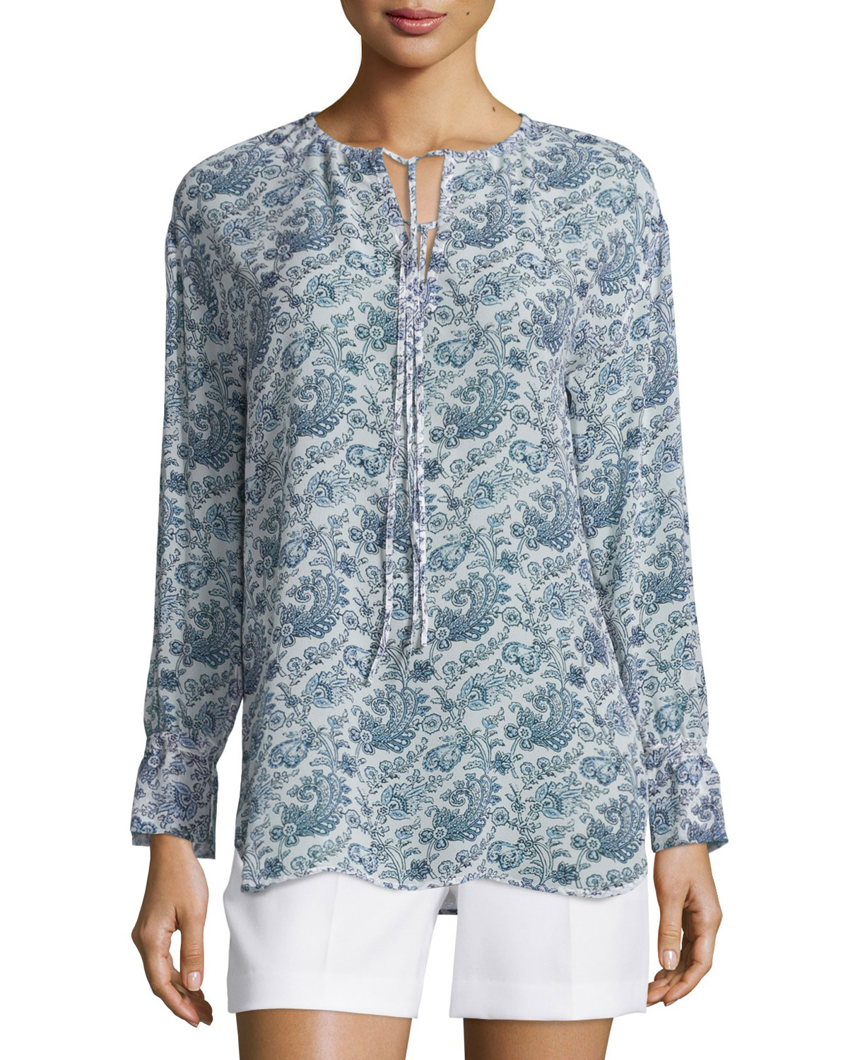 Alrik Avery Printed Silk Blouse