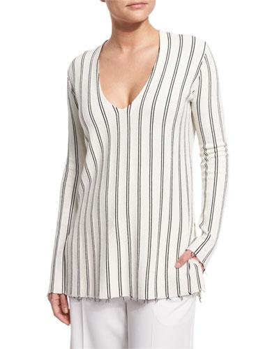 Haydren Prosecco Double-Striped Sweater