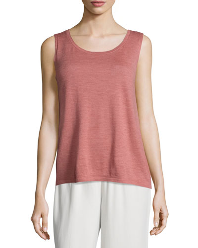 Sleeveless Lightweight Wool Shell