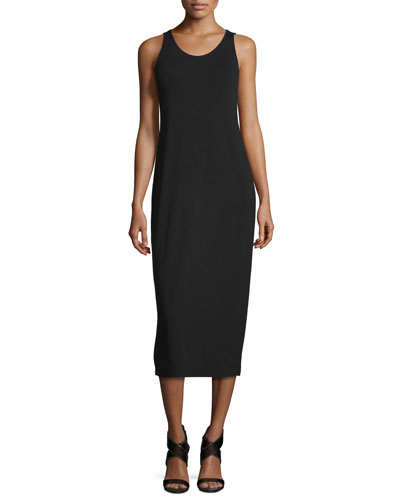 Sleeveless Jersey Midi Dress, Plus Size
