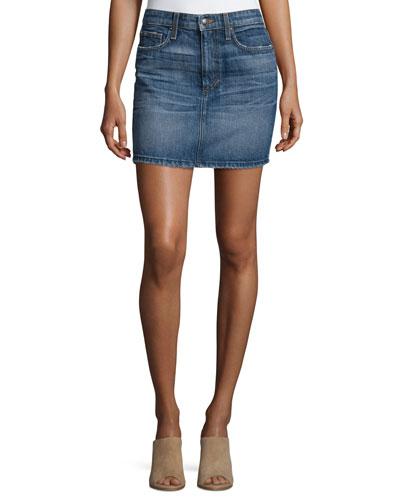 Crescendo Denim Mini Skirt, Antonia