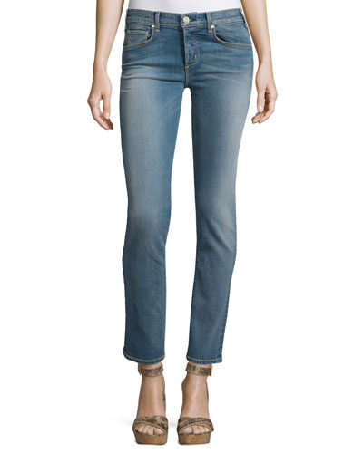 Valetta Straight-Leg Ankle Jeans, Palo Santos