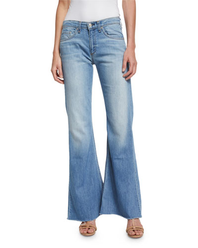 Beach Mid-Rise Bell-Bottom Jeans, Ryder