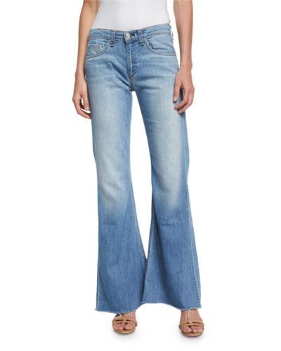 Beach Mid-Rise Bell-Bottom Jeans, Ryder