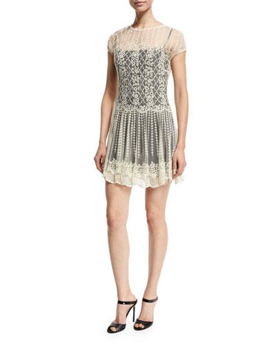 Basket & Floral Embroidered Dress