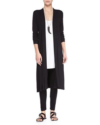 Long Shaped Jersey Cardigan, Petite