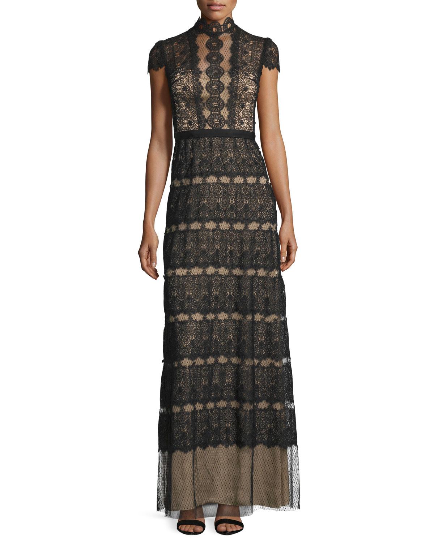 Firenze Lace & Point d'Esprit A-line Gown