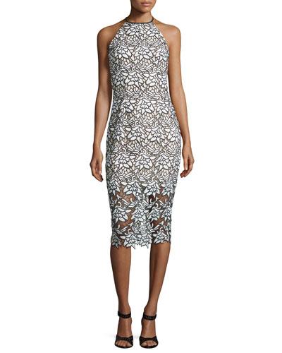True Love Sleeveless Lace Midi Dress, Ivory
