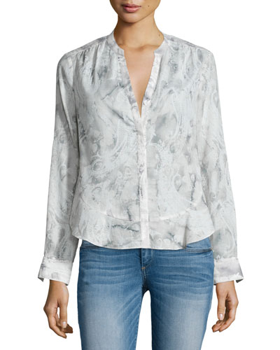 Origami Paisley Voile Blouse