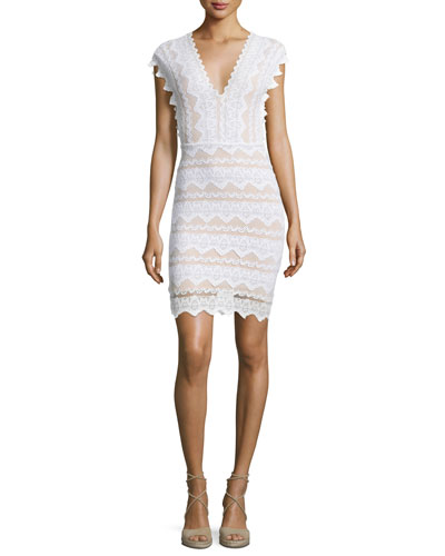 Antoinette Lace Sheath Dress, Dove