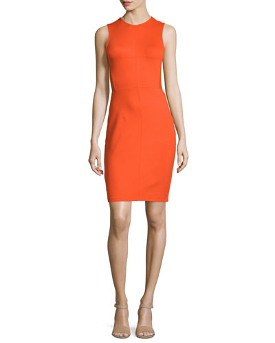 Beau Sleeveless Sheath Dress, Masai Red