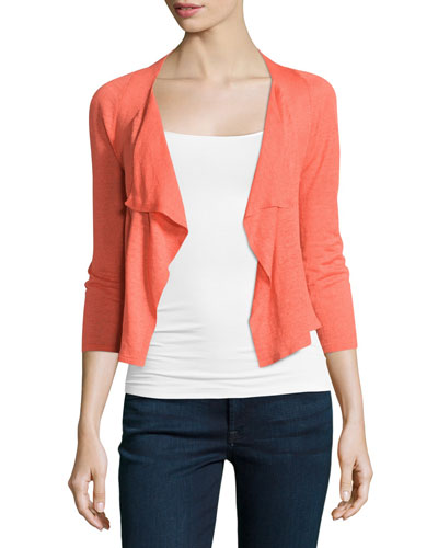 4-Way Drifting Cardigan, Hot Coral, Plus Size
