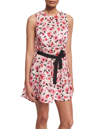 bay of roses printed coverup dress