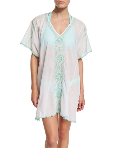 Mystique Embroidered Caftan Coverup