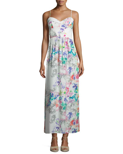 Mai Tai Sleeveless Maxi Dress, Waterfall Floral